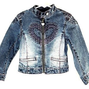 Gasoline Blue Denim Toddler Size 4 Jean Jacket